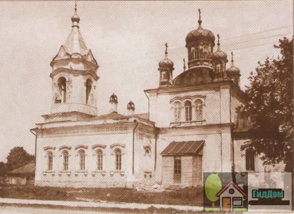Церковь Николы Гоcтинного на старой открытке