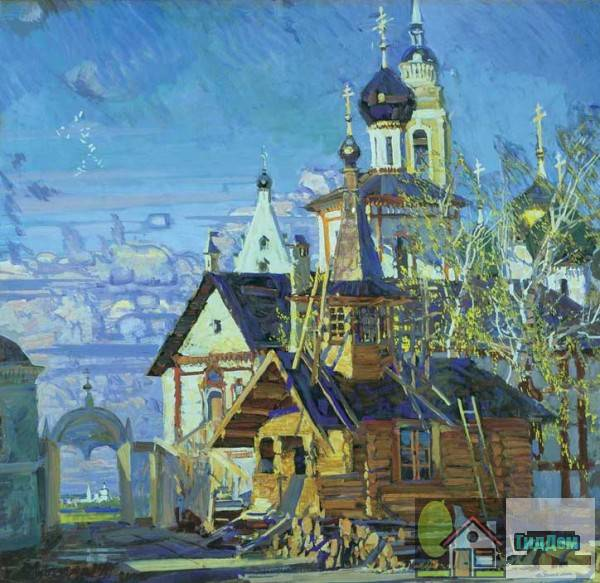 Новоголутвинский монастырь на картине М. Абакумова.