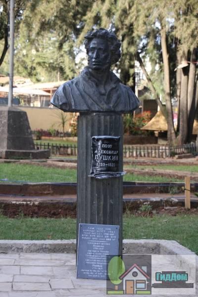 Памятник А.С. Пушкину в Аддис-Абебе