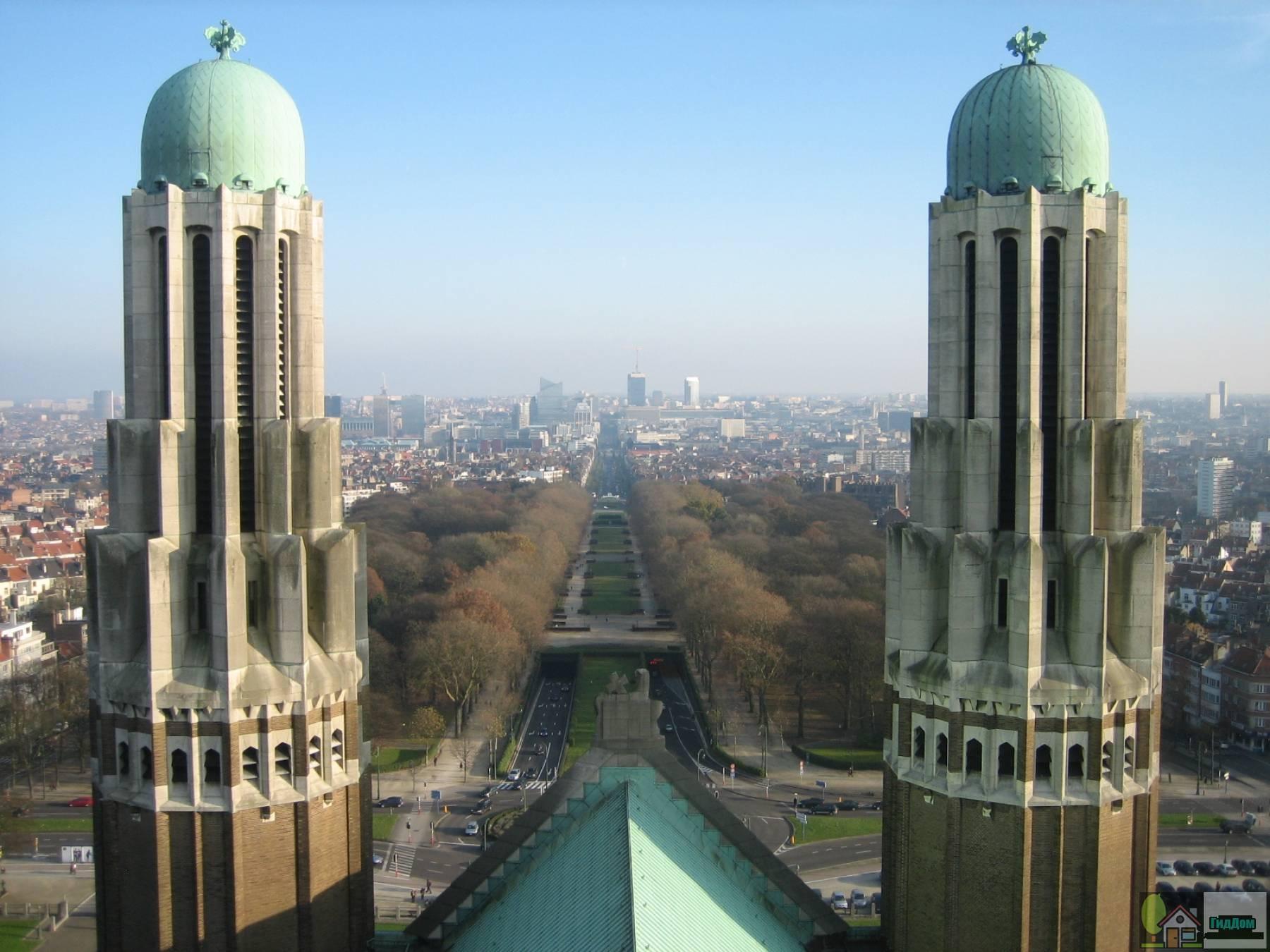 Вид с купола базилики святого Сердца в Брюсселе